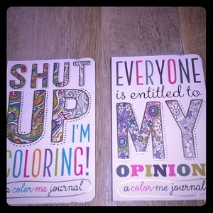 2 NEW Color Me Journals